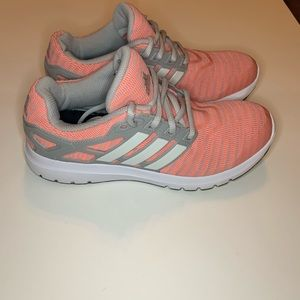 Adidas size 7 cloudfoam orange and gray